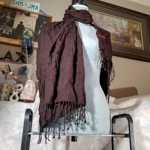 Esprit Accessories - 😍 5 for $25 / Maroon Scarf Wrap w/ Laced Ends